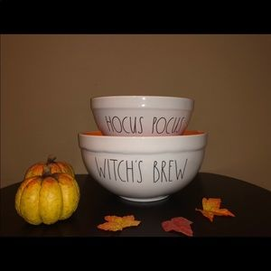 Rae Dunn mixing bowls witches brew hocus pocus